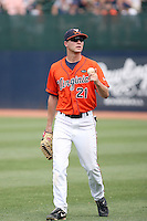 Dan Grovatt of the Virginia Cavaliers playing in Game Two of the NCAA Super Regional tournament against the Oklahoma Sooners at Charlottesville, VA - 06/13/2010. Oklahoma defeated Virginia, 10-7, to tie the series after two games.  Photo By Bill Mitchell / Four Seam Images