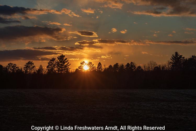 Sunset in Weigor, Wisconsin.