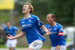St Johnstone v Dundee United...27.08.11   SPL Week 5.Liam Craig celebrates his goal.Picture by Graeme Hart..Copyright Perthshire Picture Agency.Tel: 01738 623350  Mobile: 07990 594431