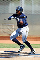 Milwaukee Brewers minor league infielder Jose Sermo #39 during an instructional league game against the Cincinnati Reds at Maryvale Baseball Park on October 3, 2012 in Phoenix, Arizona.  (Mike Janes/Four Seam Images)