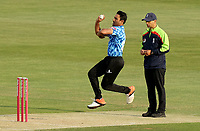 Ravi Bopara of Sussex in bowling action during Essex Eagles vs Sussex Sharks, Vitality Blast T20 Cricket at The Cloudfm County Ground on 15th June 2021