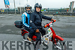 Brian and Dolores Berkery on their Honda 50 at the West Kerry Honda 50 and Classic Bike Run in aid of the Kerry Hospice in Blennerville on Sunday