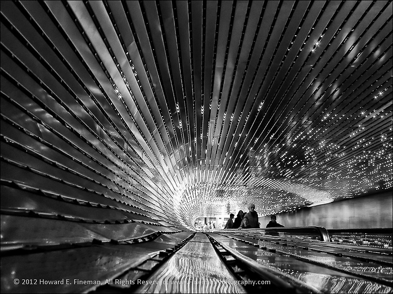 """Light at the End of the Tunnel, National Gallery of Art, Washington DC<br /> <br /> This print is one of two selected for the Boston Society of Architects (BSA Space) exhibit """"New Visions of Designed Environments."""""""