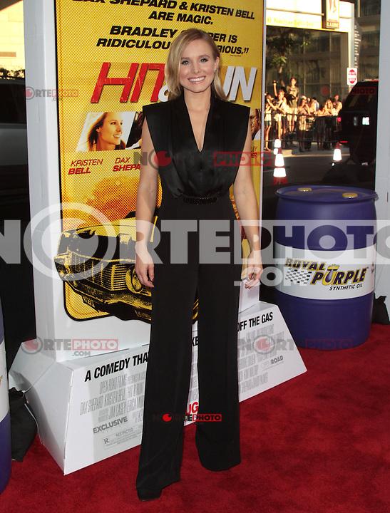 LOS ANGELES, CA - AUGUST 14: Kristen Bell arrives at the 'Hit & Run' Los Angeles Premiere on August 14, 2012 in Los Angeles, California MPI21 / Mediapunchinc /NortePhoto.com<br /> <br /> **CREDITO*OBLIGATORIO** *No*Venta*A*Terceros*<br /> *No*Sale*So*third* ***No*Se*Permite*Hacer Archivo***No*Sale*So*third*