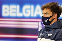 26th August 2021; Spa Francorchamps, Stavelot, Belgium: FIA F1 Grand Prix of Belgium, driver arrival day:  10 Pierre Gasly FRA, Scuderia AlphaTauri Honda