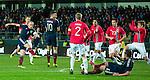 Scott Brown smashes in Scotland's goal