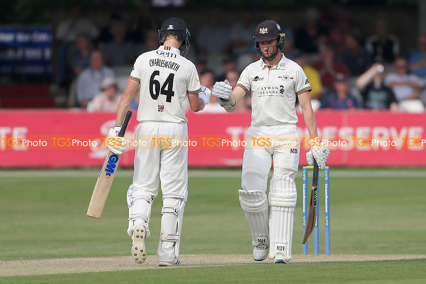 Ben Charlesworth and James Bracey enjoy a useful partnership for Gloucestershire during Essex CCC vs Gloucestershire CCC, LV Insurance County Championship Division 2 Cricket at The Cloudfm County Ground on 6th September 2021