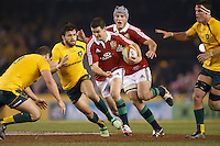 MELBOURNE, 29 JUNE 2013 - Jonathan SEXTON of the Lions runs with the ball during the Second Test match between the Australian Wallabies and the British & Irish Lions at Etihad Stadium on 29 June 2013 in Melbourne, Australia. (Photo Sydney Low / sydlow.com)
