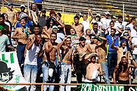 NEIVA - COLOMBIA - 16 - 07 - 2017:Hinchas del Cali. Acción de juego entre el Atletico Huila y el Deportivo Cali i, durante partido entre Atletico Huila y Deportivo Cali, de la fecha 2 por la Liga Aguila II 2017 en el estadio Guillermo Plazas Alcid de Neiva. / Fans of Deportivo Cali.Action game between of  Atletico Huila  and  Deportivo Cali, during a match of the date 2nd for the Liga Aguila II 2017 at the Guillermo Plazas Alcid Stadium in Neiva city. Photo: VizzorImage  / Sergio Reyes / Cont.