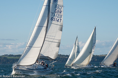 A moment of real hope. Proper and officially-sanctioned club keelboat racing finally gets underway on a glorious sailing evening at the Royal Cork YC in Crosshaven on July 9th 2020. Photo: Robert Bateman