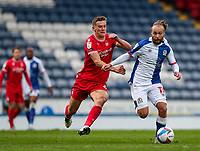 Nottingham Forest's Ryan Yates vies for possession with Blackburn Rovers' Harry Chapman<br /> <br /> Photographer Alex Dodd/CameraSport<br /> <br /> The EFL Sky Bet Championship - Blackburn Rovers v Nottingham Forest - Saturday 17th October 2020 - Ewood Park - Blackburn<br /> <br /> World Copyright © 2020 CameraSport. All rights reserved. 43 Linden Ave. Countesthorpe. Leicester. England. LE8 5PG - Tel: +44 (0) 116 277 4147 - admin@camerasport.com - www.camerasport.com