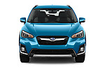 Car photography straight front view of a 2020 Subaru Crosstrek Hybrid 5 Door SUV Front View