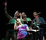 "Kennedy Caughell, Alex Gibson, Blaine Alden Krauss and Zach Adkins during the New York Musical Festival production of  ""Alive! The Zombie Musical"" at the Alice Griffin Jewel Box Theatre on July 29, 2019 in New York City."