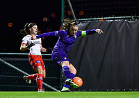 Tine De Caigny (6) of Anderlecht pictured scoring a goal during a female soccer game between RSC Anderlecht Dames and SV Zulte Waregem on the 10 th matchday of the 2020 - 2021 season of Belgian Womens Super League , friday 18 th of December 2020  in Tubize , Belgium . PHOTO SPORTPIX.BE | SPP | DAVID CATRY