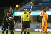 SAN JOSE, CA - JUNE 26: Referee Robert Sibiga during a Major League Soccer (MLS) match between the San Jose Earthquakes and the Houston Dynamo on June 26, 2019 at Avaya Stadium in San Jose, California.