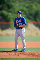 New York Mets pitcher Billy Oxford (28) during a Minor League Spring Training intrasquad game on March 29, 2018 at the First Data Field Complex in St. Lucie, Florida.  (Mike Janes/Four Seam Images)