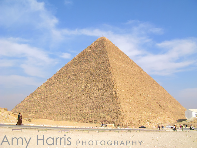 The Great Pyramid of Giza near Cairo, Egypt.