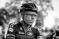 Sven Nys (BEL/Crelan-AAdrinks) hydrating at the start.<br /> <br /> Koppenbergcross 2014