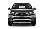 Car photography straight front view of a 2017 Opel Mokka-X Innovation 5 Door SUV Front View