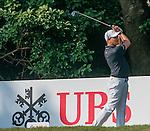 Sam Brazel of Australia tees off the 10th hole during the 58th UBS Hong Kong Golf Open as part of the European Tour on 10 December 2016, at the Hong Kong Golf Club, Fanling, Hong Kong, China. Photo by Marcio Rodrigo Machado / Power Sport Images