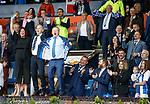 19.05.2019 Kilmarnock v Rangers: Ray Montgomerie leads the celebrations from the Kilmarnock directors box