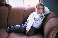 New York, Plattsburg. New York, Plattsburg. This family are the parents of four disturbed boys with all suffering from ADD, ADHD. One son, 9, is suicidal and depressed and abusive, so no knives are allowed in the house.This son, age four has ADD.