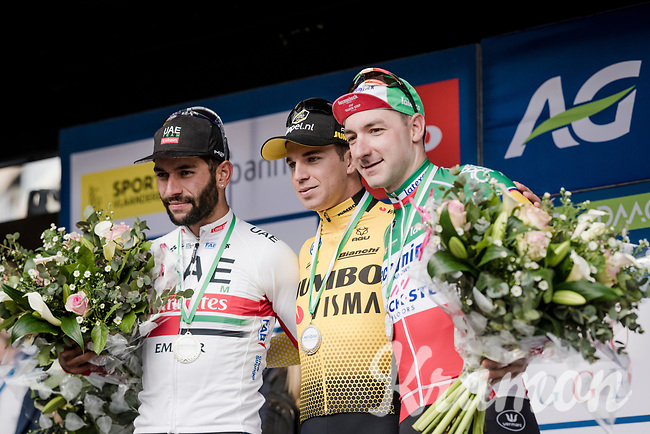 Quite the who's who of today's sprinters: Dylan Groenewegen (NED/Jumbo-Visma) wins the 43rd Driedaagse Brugge-De Panne 2019 ahead of Fernando Gaviria (COL/UAE-Emirates) & Elia VIVIANI (ITA/Deceuninck-Quick Step)<br /> <br /> One day race (1.UWT) from Brugge to De Panne BEL (200km)<br /> <br /> ©kramon