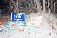Campaign signs in snow - Bedford NH - 9 Feb 2020