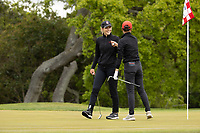 STANFORD, CA - APRIL 25: Rachel Heck, YuSang Hou at Stanford Golf Course on April 25, 2021 in Stanford, California.