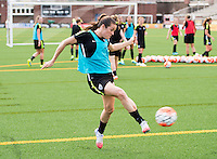 Chattanooga, TN - Tuesday, August 18, 2015: The USWNT train in preparation for their friendly against Costa Rica at Finley Stadium.