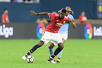 Houston, TX - Thursday July 20, 2017: Paul Pogba and Fernandinho during a match between Manchester United and Manchester City in the 2017 International Champions Cup at NRG Stadium.
