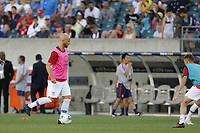PHILADELPHIA, PENNSYLVANIA - JUNE 30: Michael Bradley #4 during the 2019 CONCACAF Gold Cup quarterfinal match between the United States and Curacao at Lincoln Financial Field on June 30, 2019 in Philadelphia, Pennsylvania.