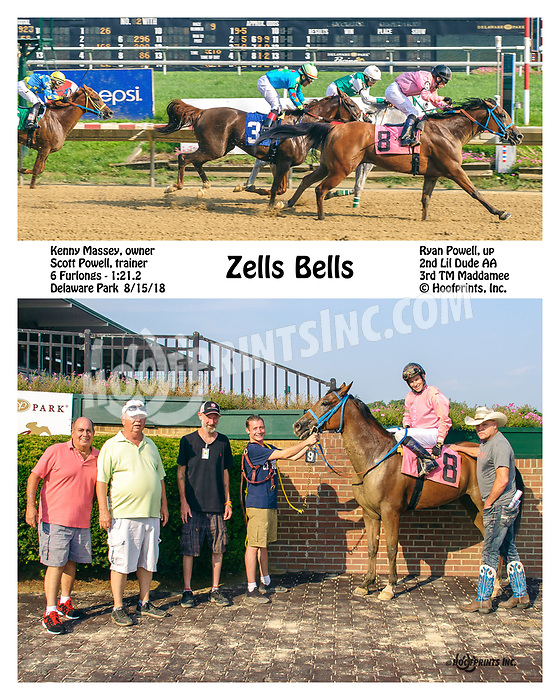 Zells Bells winning at Delaware Park on 8/15/18