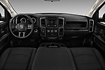 Stock photo of straight dashboard view of 2017 Ram Ram 1500 Tradesman Crew 4 Door Pick Up