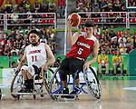 Ben Moronchuk, Rio 2016 - Wheelchair Basketball // Basketball en fauteuil roulant.<br /> The Canadian men's wheelchair basketball team plays against Japan in the preliminaries // L'équipe canadienne masculine de basketball en fauteuil roulant joue contre le Japon dans la ronde préliminaire. 11/09/2016.