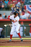 Florida Fire Frogs center fielder Ray-Patrick Didder (11) awaits the first pitch of the teams inaugural game against the Daytona Tortugas on April 6, 2017 at Osceola County Stadium in Kissimmee, Florida.  Daytona defeated Florida 3-1.  (Mike Janes/Four Seam Images)