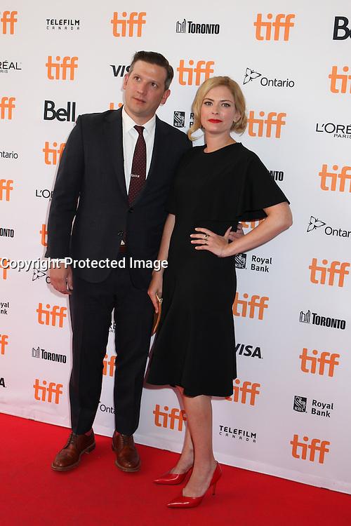 AUTHOR SUSANNAH CAHALAN AND HER HUSBAND - RED CARPET OF THE FILM 'BRAIN ON FIRE' - 41ST TORONTO INTERNATIONAL FILM FESTIVAL 2016 IN TORONTO, 16/09/2016. # FESTIVAL INTERNATIONAL DU FILM DE TORONTO 2016