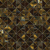 Christopher G2, a handmade mosaic shown in Tortoise Shell jewel glass, is part of the Illusions® collection by New Ravenna.