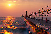 Grand Haven Light,  Lake Michigan<br />