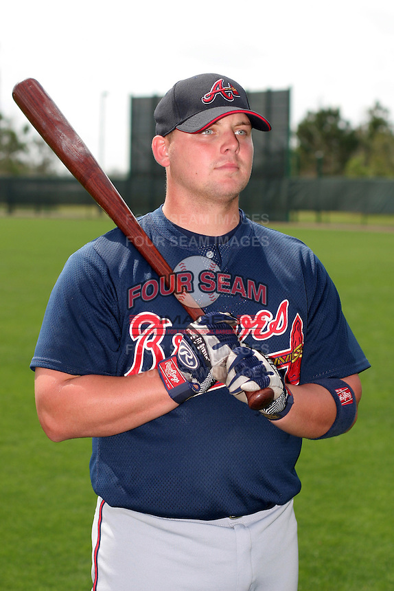 Atlanta Braves minor leaguer Danny Brezeale during Spring Training at Disney's Wide World of Sports on March 15, 2007 in Orlando, Florida.  (Mike Janes/Four Seam Images)