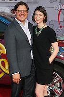 """HOLLYWOOD, LOS ANGELES, CA, USA - MARCH 11: Rich Sommer, Virginia Donohoe Sommer at the World Premiere Of Disney's """"Muppets Most Wanted"""" held at the El Capitan Theatre on March 11, 2014 in Hollywood, Los Angeles, California, United States. (Photo by Xavier Collin/Celebrity Monitor)"""