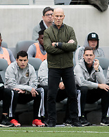 LOS ANGELES, CA - MARCH 01: Bob Bradley head coach of Los Angeles FC during a game between Inter Miami CF and Los Angeles FC at Banc of California Stadium on March 01, 2020 in Los Angeles, California.