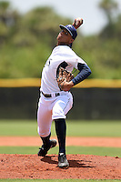 GCL Rays pitcher Mario Adames (29) delivers a pitch during a game against the GCL Red Sox on June 24, 2014 at Charlotte Sports Park in Port Charlotte, Florida.  GCL Red Sox defeated the GCL Rays 5-3.  (Mike Janes/Four Seam Images)