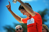 Australia's Sam Hill (GPM Stulz) with the Most Aggressive jersey. UCI Oceania Tour - NZ Cycling Classic stage one - Masterton to Gladstone circuit in Wairarapa, New Zealand on Wednesday, 20 January 2016. Photo: Dave Lintott / lintottphoto.co.nz