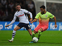 Preston North End's Alan Browne battles with Manchester City's İlkay Gundogan<br /> <br /> Photographer Dave Howarth/CameraSport<br /> <br /> The Carabao Cup Third Round - Preston North End v Manchester City - Tuesday 24th September 2019 - Deepdale Stadium - Preston<br />  <br /> World Copyright © 2019 CameraSport. All rights reserved. 43 Linden Ave. Countesthorpe. Leicester. England. LE8 5PG - Tel: +44 (0) 116 277 4147 - admin@camerasport.com - www.camerasport.com