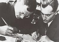 Ilya Ilf (Ilya Arnoldovich Faynzilberg 1897-1937) and Evgeny or Yevgeni Petrov (Yevgeniy Petrovich Kataev or Katayev (1903-1942) were two Soviet prose authors of the 1920s and 1930s.