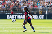 EAST HARTFORD, CT - JULY 5: Crystal Dunn #2 of the United States during a game between Mexico and USWNT at Rentschler Field on July 5, 2021 in East Hartford, Connecticut.