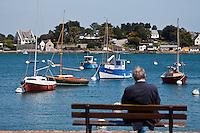 Europe/France/Bretagne/56/Morbihan/ La Trinité-sur-Mer: Le port sur la  rivière de Crach