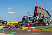 18th July 2021; Silverstone Circuit, Silverstone, Northamptonshire, England; Formula One British Grand Prix, Race Day; Only a few clouds in the sky for the start of the British Grand Prix