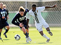 15 October 2008: University of New Hampshire Wildcats' midfielder A.J. DuBois, a Senior from Acworth, N.H., in action against the University of Vermont Catamounts at Centennial Field, in Burlington, Vermont. The Wildcats and Catamounts battled in overtime to a 0-0 tie...Mandatory Photo Credit: Ed Wolfstein Photo